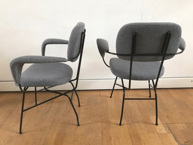 1950s  Eight Chairs by Velca-moioli-gallery-sedie velca rifatte grigie 4_main_636558839196680229.jpg